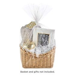 Hallmark Gift Basket Wrap Kit with Cellophane Bag, Filler, Cord and Gift Tag for Easter Baskets, ...