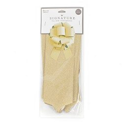 Hallmark Signature 8″ Gift Bow (Gold Glitter) DIY Pull Bow for Christmas, Hanukkah, Holida ...