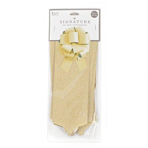 Hallmark Signature 8″ Gift Bow (Gold Glitter) DIY Pull Bow for Christmas, Hanukkah, Holida ...
