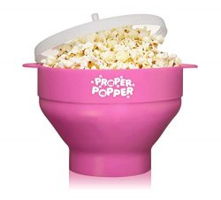 The Original Proper Popper Microwave Popcorn Popper, Silicone Popcorn Maker, Collapsible Bowl BP ...