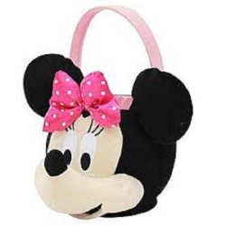 Jumbo Minnie Mickey Mouse Plush Gift Basket Bucket for Birthdays, Easter, Halloween, Christmas,  ...