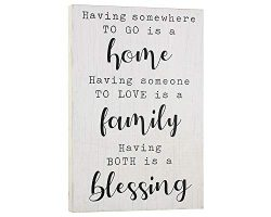 Elegant Signs Farmhouse Decor for The Home – Housewarming Gifts – Having Somewhere t ...