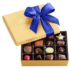 Godiva Chocolatier Chocolate Gold Gift Box, Royal Ribbon, Assorted Chocolates, Chocolate Candy,  ...