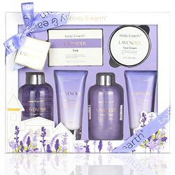 Bath and Body Gift Set – Luxurious 6 Pcs Bath Kit for Women, Body & Earth Spa Set with ...