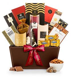 GiftTree Broadway Gourmet Happy Birthday Gift Basket | Ghirardelli Chocolates, Pomegranate Truff ...