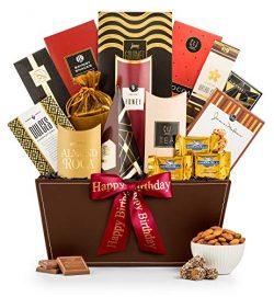 GiftTree Broadway Gourmet Happy Birthday Gift Basket | Ghirardelli Chocolates, Pomegranate Truff ...