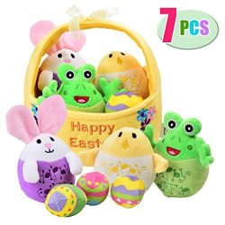 Mitcien Baby My First Easter Basket Stuffers Fillers Stuffed Plush Bunny Chick Egg Playset Easte ...
