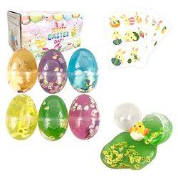 Easter Basket Stuffers Easter Eggs Slime Packs Stress Relief Colorful Slime for Boys Girls Easte ...