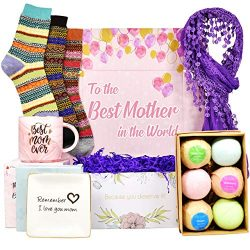 Gifts For Mom – Best Gifts For Mom From Daughter Or Son. Includes: Set Of 6 Bath Bombs, Ri ...