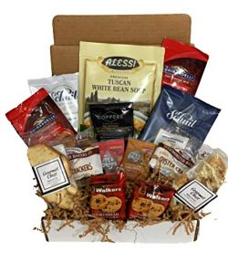 Coffee Gift Box Set, Soup, Shortbread Cookies, Hot Cocoa, Tea Drops and Oyster Crackers