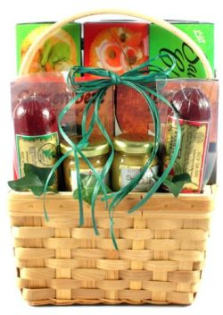 Meat, Cheese and Crackers Fathers Day Gift Basket