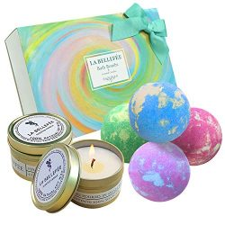LA BELLEFÉE Bath Bombs Gift Set, Perfect for Bubble Bath Fizzy Spa to Moisturize Dry Skin. Gift  ...
