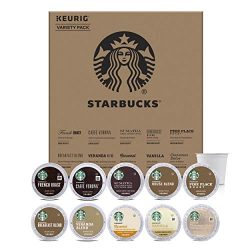 Starbucks Starter Kit K-Cup Variety Pack for Keurig Brewers, 40 K-Cup Pods (10 Roasts With 4 Pod ...