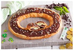 St. Paddy's Day Kringle from O&H Danish Bakery – Filled with dark chocolate cake ...