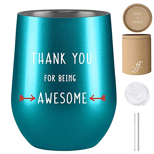 Thank You Gifts – Thank You for Being Awesome, Gift for Coworker, Fancyfams 12 oz Stainles ...