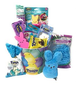Peeps Marshmallow Peeps Candy Easter Themed Variety Pack Bunny Gift Basket Pail Plush Chocolate  ...