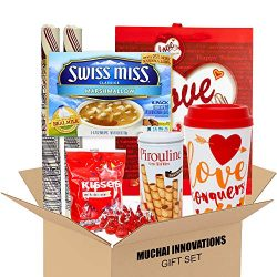 Valentine Gift Set | Travel Mug, 6 Pack SwissMiss Marshmallow Hot Cocoa, Giant Peppermint Candy  ...