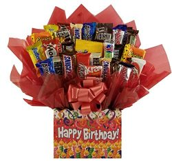 Birthday Confetti Chocolate Candy Bouquet gift basket box – Great gift for Birthday or for ...