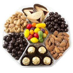 Oh! Nuts Hexagon Gourmet Snack Tray Purim Gift Box | Seven-Section Corporate Prime Shalach Manos ...