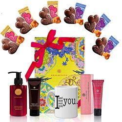 Valentine's Gift Basket – Valentine's Gift Mugs, Heart Chocolate Mix, Harnn Bo ...