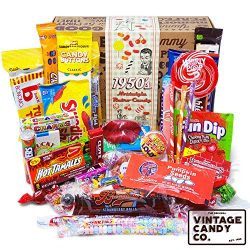 VINTAGE CANDY CO. 1950's RETRO CANDY GIFT BOX – 50s Nostalgia Candies – Throwb ...