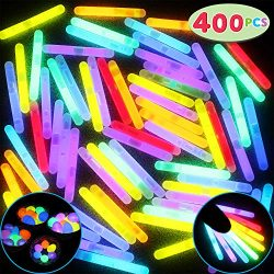 400 Glow Sticks 1.7″ Bulk with 8 Colors for Glow Easter Egg, Kids Glow-in-The-Dark, Easter ...