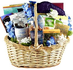 With Deepest Sympathy, Bereavement and Sympathy Gift Baskets with Grief Gifts and Comforting Sna ...